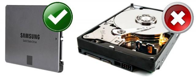 Austausch Festplatte gegen SSD
